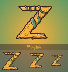 Halloween decorative alphabet - Z letter vector