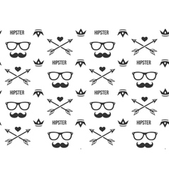 hipster pattern seamless background vector image