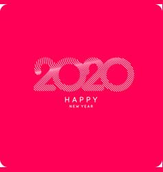 Inscription happy new year 2020 vector