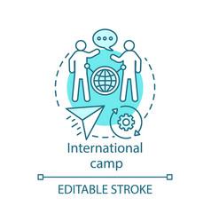 international camp concept icon meeting new vector image