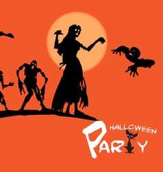 invitation to halloween vector image vector image