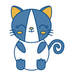 Kawaii cat icon vector