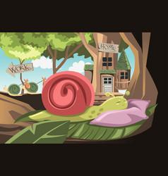Lazy snail vector