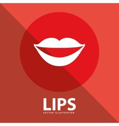 lips button vector image