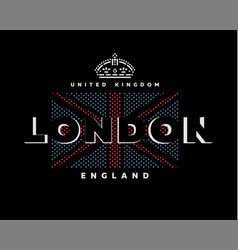 london united kingdom t-shirt printing design on vector image