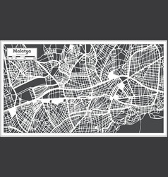 Malatya turkey city map in retro style outline map vector