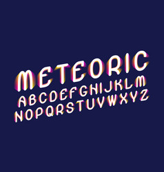 meteoric font stylized letters with a gradient vector image