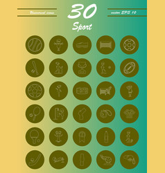 minimalistic thin line sports sharp icons vector image