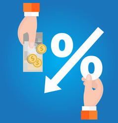 negative interest rates in investment financial vector image