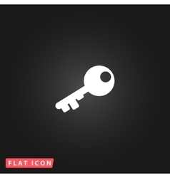 Old key silhouette isolated vector image