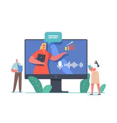 online conference meeting presentation or seminar vector image