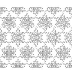 ornamental lacy regular oriental ornament snow vector image