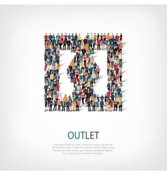 Outlet people sign vector