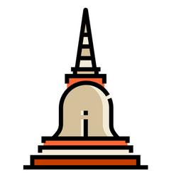 Pagoda linecolor vector