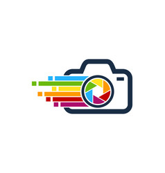 Pixel art camera logo icon design vector