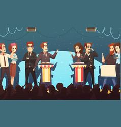 Politics election debates cartoon vector