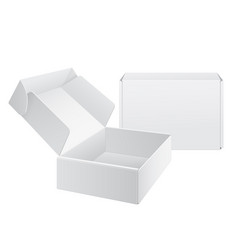 realistic white package cardboard box vector image