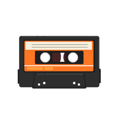 retro audio music cassette tape vector image