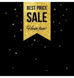 Sale golden shining label vector image