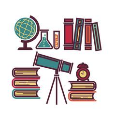 school educational items vector image