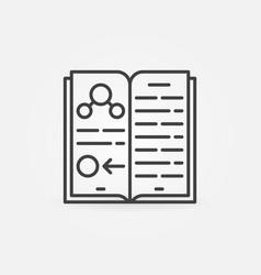 science book thin line concept icon vector image