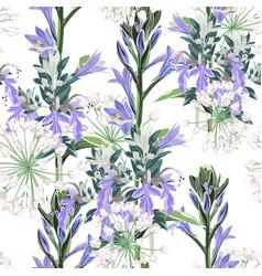 seamless pattern floral design vector image