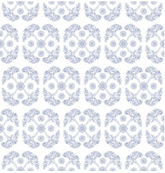 seamless pattern with algae and shells groups vector image