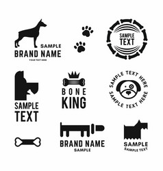 Set dog logo and icons for dog club or shop vector