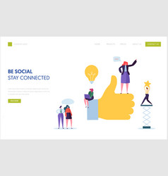 Social media marketing landing page template vector