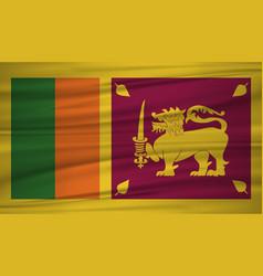 sri lanka flag flag of sri lanka blowig in the vector image