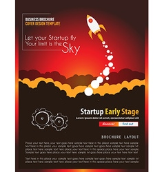Startup Landing Webpage or Corporate Design Covers vector image