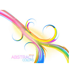 Swirl colors vector