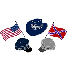 symbol of american civil war vector image