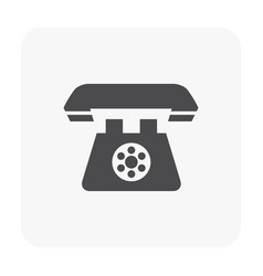telephone icon black vector image