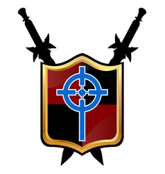 Templar shield icon vector