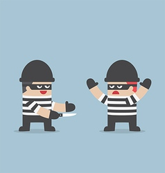 The thief betray his friend vector image