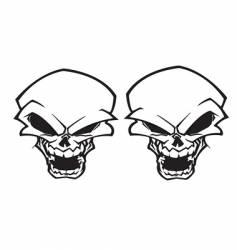 Twin skull tattoo vector