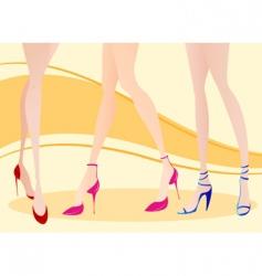 woman leg vector image