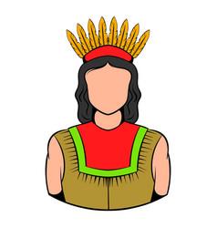 american indian icon icon cartoon vector image vector image