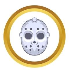 Hockey goalie mask icon cartoon style vector image
