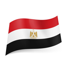 National flag of egypt red white and black vector