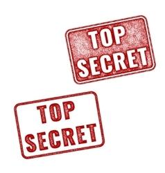 Realistic Top Secret grunge rubber stamps vector image vector image