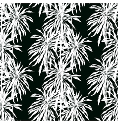 seamless pattern with leafs silhouettes vector image vector image