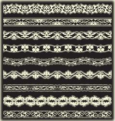 Vintage border set for design vector image vector image