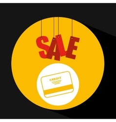 Basket shopping sale credit card graphic vector