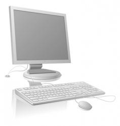 LCDmonitor and keyboard vector image