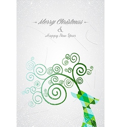 Merry Christmas colorful abstract reindeer head vector image