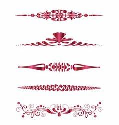 Set of Design Horizontal Elements for Border vector image vector image