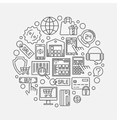 Shopping and ecommerce vector image vector image