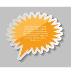 Speech Bubbles Stickers vector image vector image